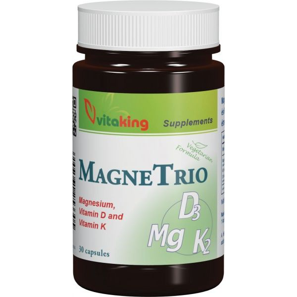 Vitaking Magne Trio Mg + K2 + D3-vitamin kapszula - 30db