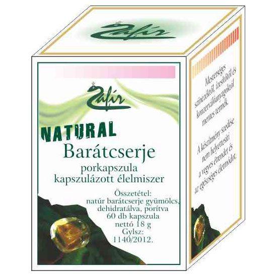 Zafir naturál barátcserje porkapszula - 60db