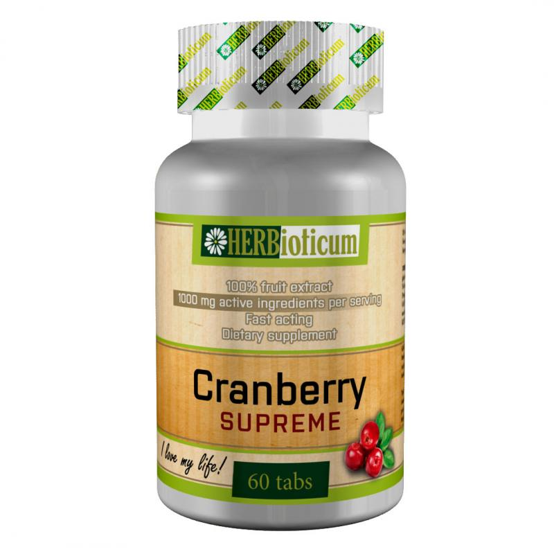Herbioticum Cranberry Supreme tabletta - 60db