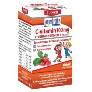 Jutavit C-vitamin 100mg rágótabletta gyerekeknek - 60db
