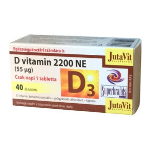 Jutavit D-vitamin 2200NE tabletta - 40db