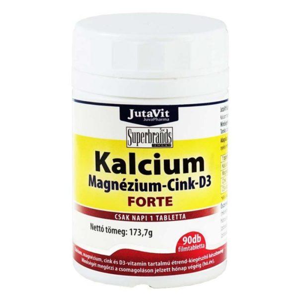 Jutavit Kalcium-Magnézium-Cink-D3-vitamin Forte tabletta - 90db