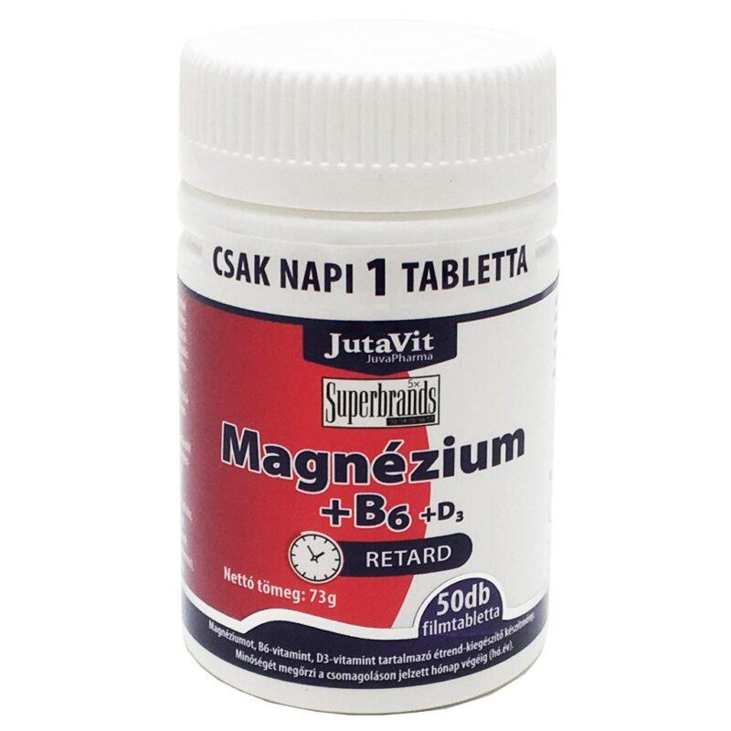 Jutavit Magnézium + B6 + D3-vitamin filmtabletta - 50db