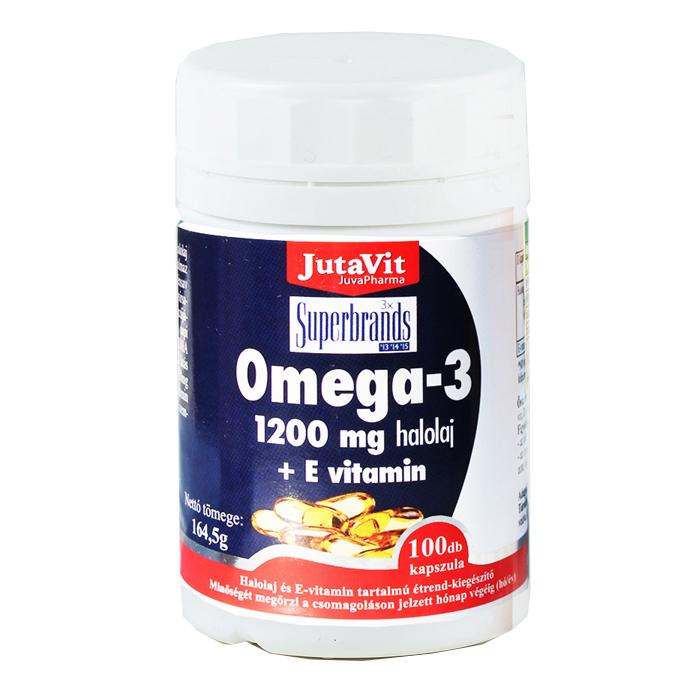Jutavit Omega-3 + E-vitamin kapszula - 100db