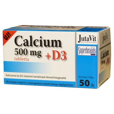 Jutavit Calcium +D3-vitamin tabletta - 50db