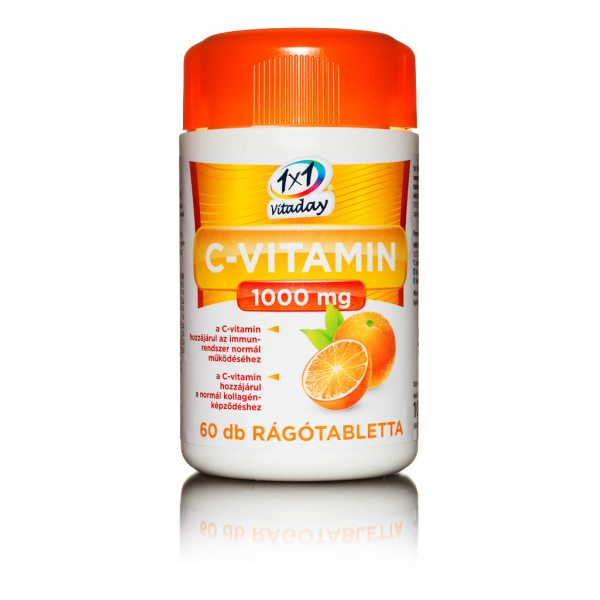 1x1 Vitaday C-vitamin 1000 mg rágótabletta - 60db