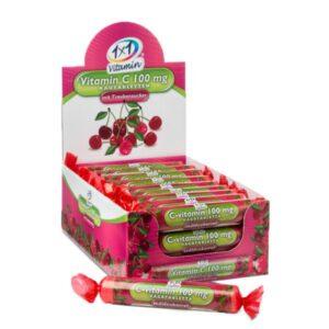 1x1 Vitaday C-vitamin 100mg szőlőcukor cseresznye ízben - 17db