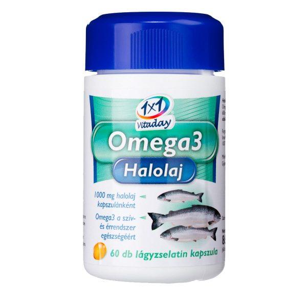1x1 Vitaday Omega-3 halolaj kapszula - 60db