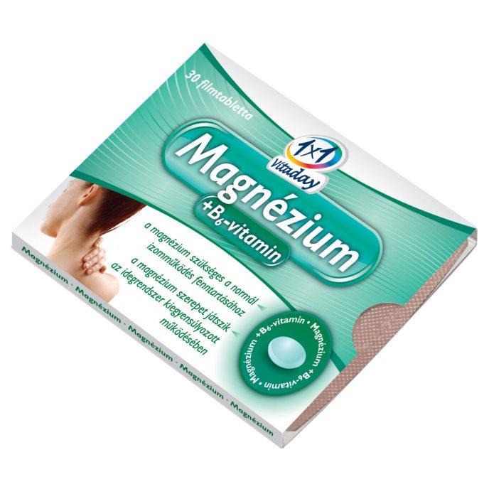 1x1 Vitaday magnézium + B6-vitamin filmtabletta - 30db