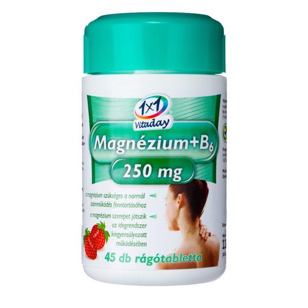1x1 Vitaday magnézium + B6-vitamin rágótabletta - 45db