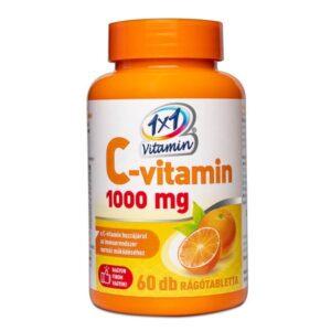 1x1 Vitamin C-vitamin 1000 mg narancs ízű rágótabletta - 60db