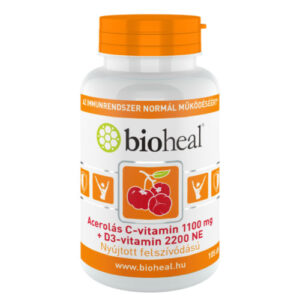 Bioheal Acerolás C-vitamin 1100mg +D3-vitamin 2200NE kapszula - 105db