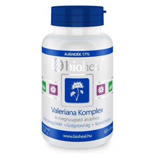 Bioheal valeriána komplex tabletta - 70db