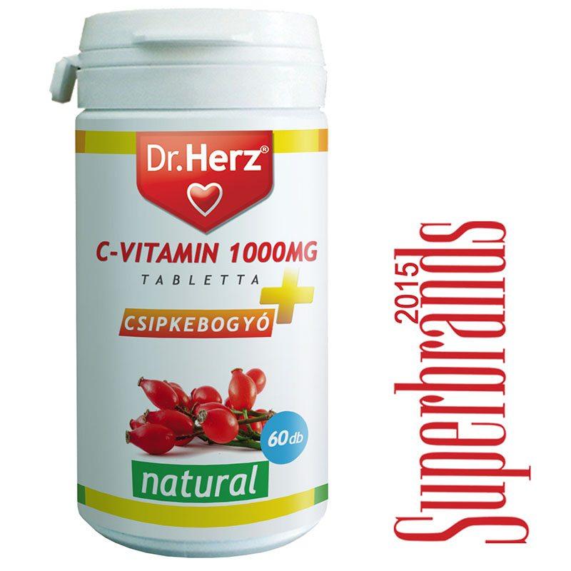 Dr. Herz C-vitamin 1000mg + csipkebogyó tabletta - 60db