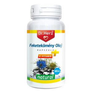 Dr. Herz Feketekömény olaj + E-vitamin kapszula – 90db