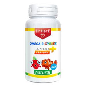 Dr. Herz Omega-3 500mg kapszula gyermekeknek - 60db