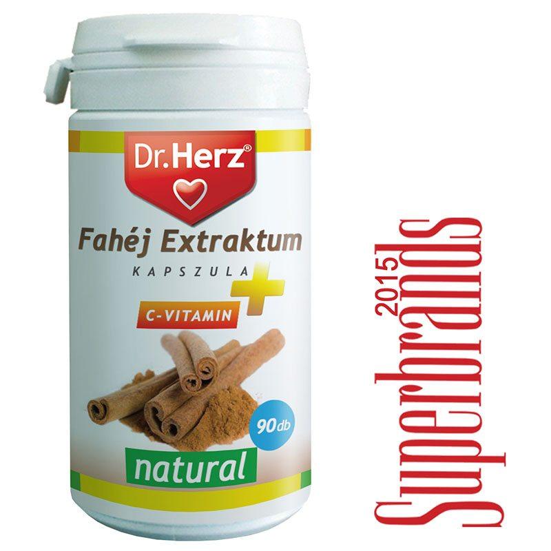 Dr. Herz fahéj extraktum + C vitamin kapszula - 90db