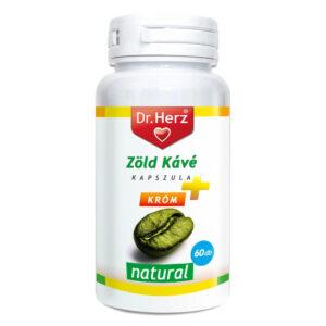 Dr. Herz zöld kávé 200mg + króm kapszula - 60db