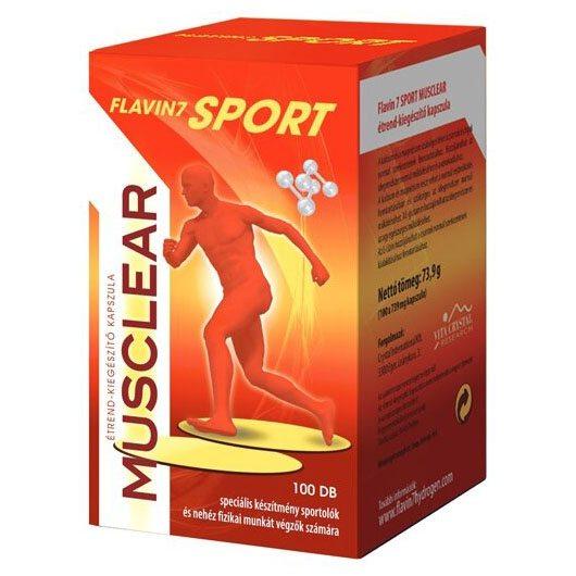 Flavin7 Sport MusClear kapszula - 100db