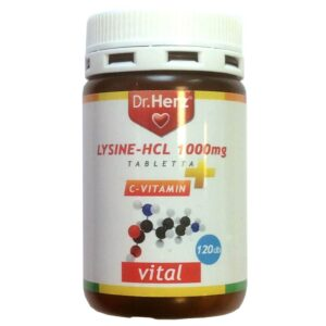 Dr. Herz Lysine 1000mg + C-vitamin tabletta - 120db