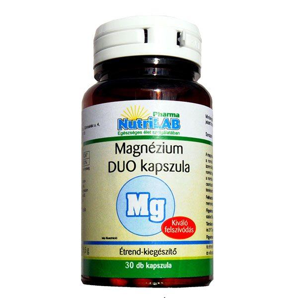 Nutrilab Magnézium Duo kapszula - 30db