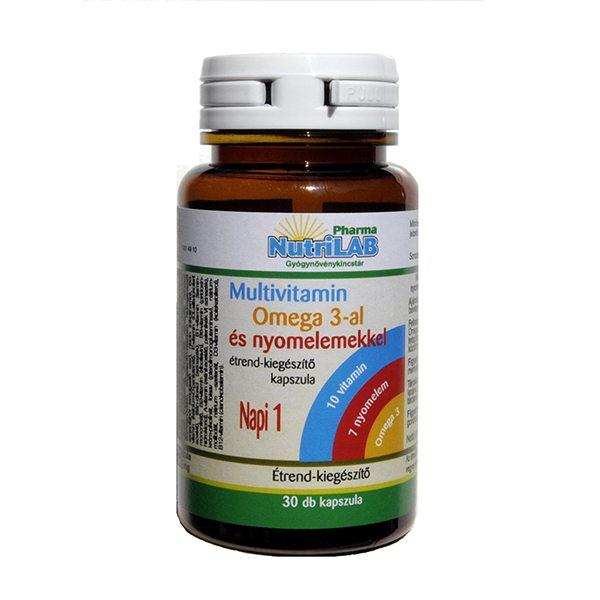 Nutrilab Multivitamin + Omega-3 kapszula - 30db