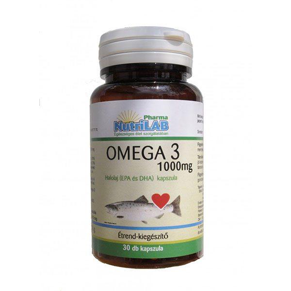 Nutrilab Omega 3 - 1000 halolaj - 30db kapszula