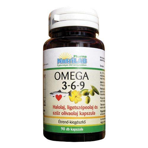 Nutrilab Omega 3-6-9 kapszula - 90 db