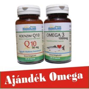 Nutrilab Q10 koenzim + Omega3 halolaj kapszula - 60db + 30db