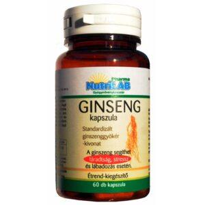 Nutrilab Ginseng kapszula - 60db
