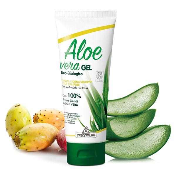 Specchiasol 100%-os Aloe Vera gél teafa olajjal és fügekaktusz kivonattal - 200ml