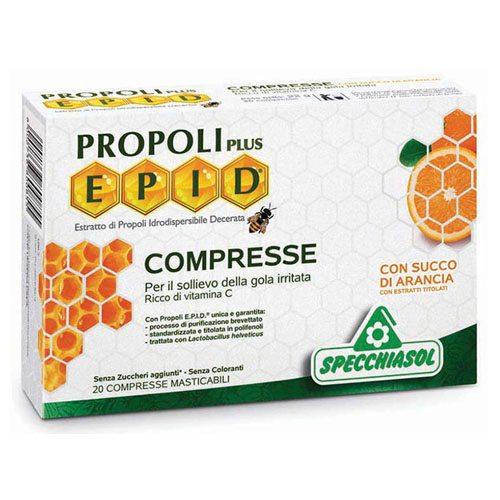 Specchiasol EPID Propolisz szopogatós narancs ízű tabletta - 20db
