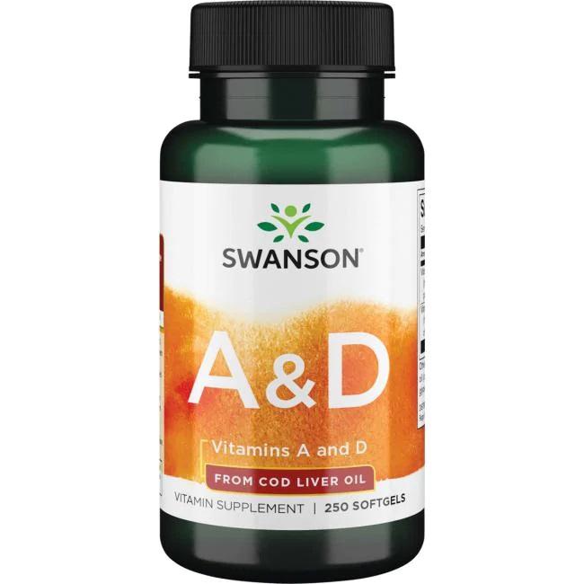 Swanson A-vitamin és D-vitamin lágyzselatin kapszula - 250db