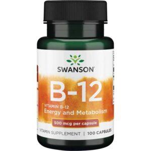 Swanson B12-vitamin kapszula - 100db