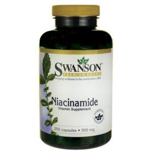 Swanson Niacinamid B3-vitamin tabletta - 250db