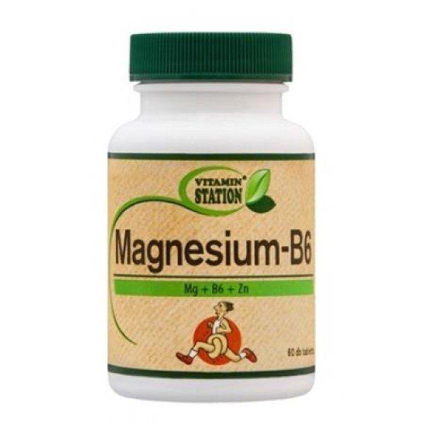 Vitamin Station Magnézium + B6-vitamin tabletta - 60db
