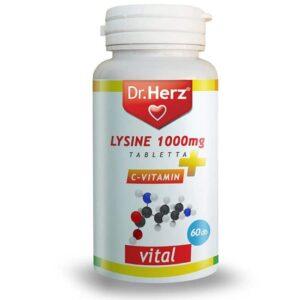 Dr. Herz Lysine 1000mg + C-vitamin tabletta - 60db