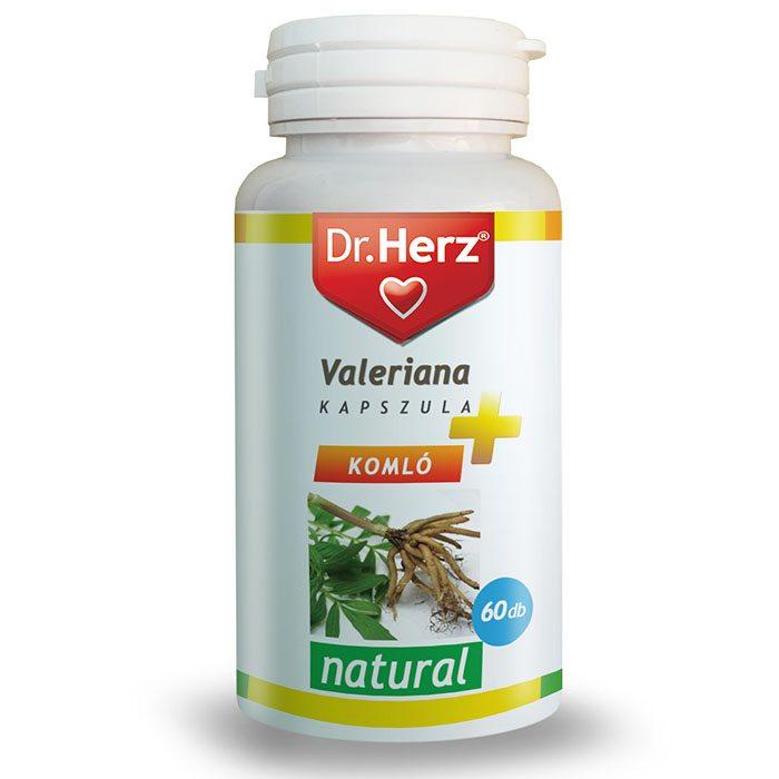 Dr. Herz Valeriana + Komló + Golgotavirág kapszula - 60db