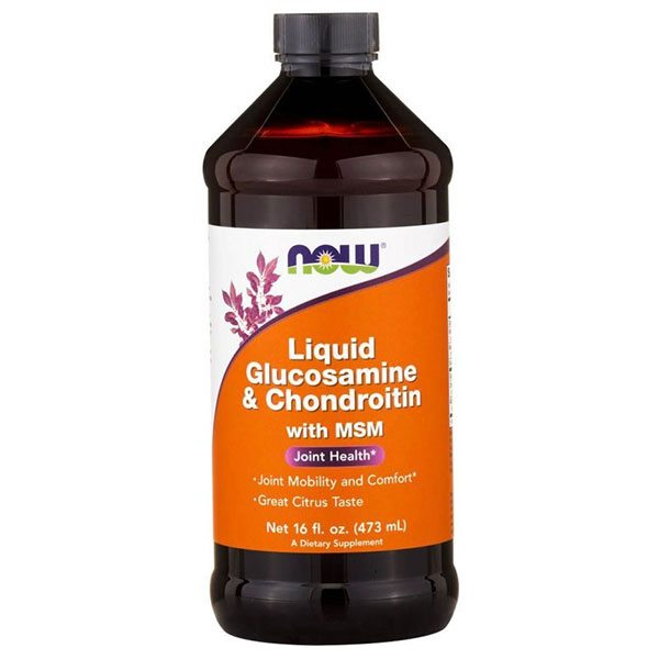 Now Liquid Glucosamine, Chondroitin, MSM szirup - 473ml