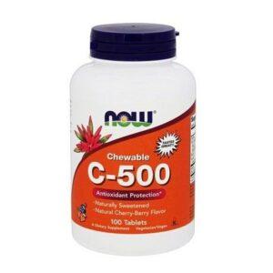 Now C-500 cseresznye ízű rágótabletta - 100db