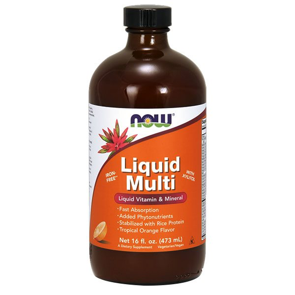 Now Liquid Multi szirup narancsos - 473ml
