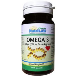 Nutrilab Omega-3 halolaj 500mg kapszula - 60db