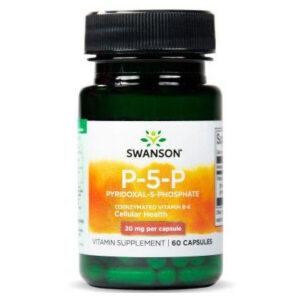 Swanson B6-vitamin P-5-P 20mg kapszula - 60db