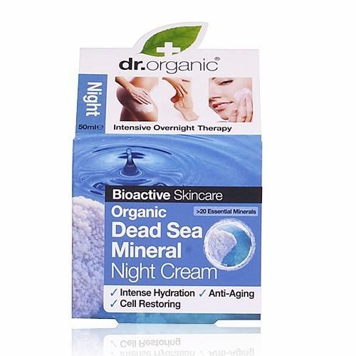 Dr. Organic bio Holt-tengeri éjszakai krém - 50ml