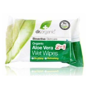 Dr. Organic bio aloe vera törlőkendő - 20db