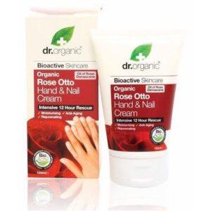 Dr. Organic bio rózsa kéz- és körömápoló krém - 125ml