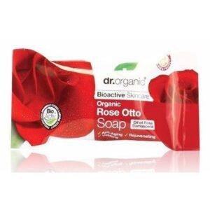 Dr. Organic bio rózsa szappan - 100g