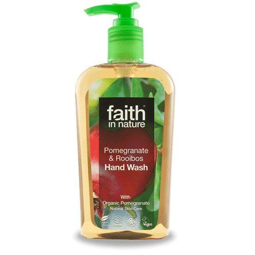 Faith in Nature Bio Gránátalma és Rooibos folyékony kézmosó - 300ml