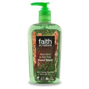Faith in Nature Bio aloe vera és teafa folyékony kézmosó - 300ml