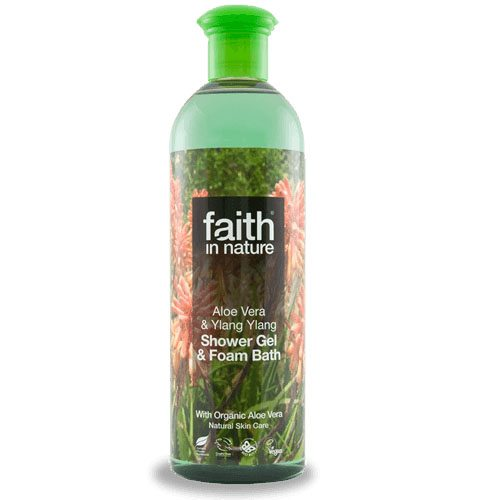 Faith in Nature Bio aloe vera és ylang-ylang tusfürdő - 400ml